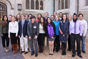 The student speakers at the KNAC conference at Vassar.