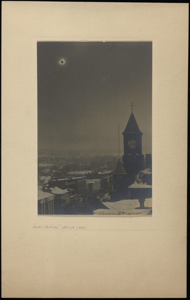 1925 Eclipse over Middletown